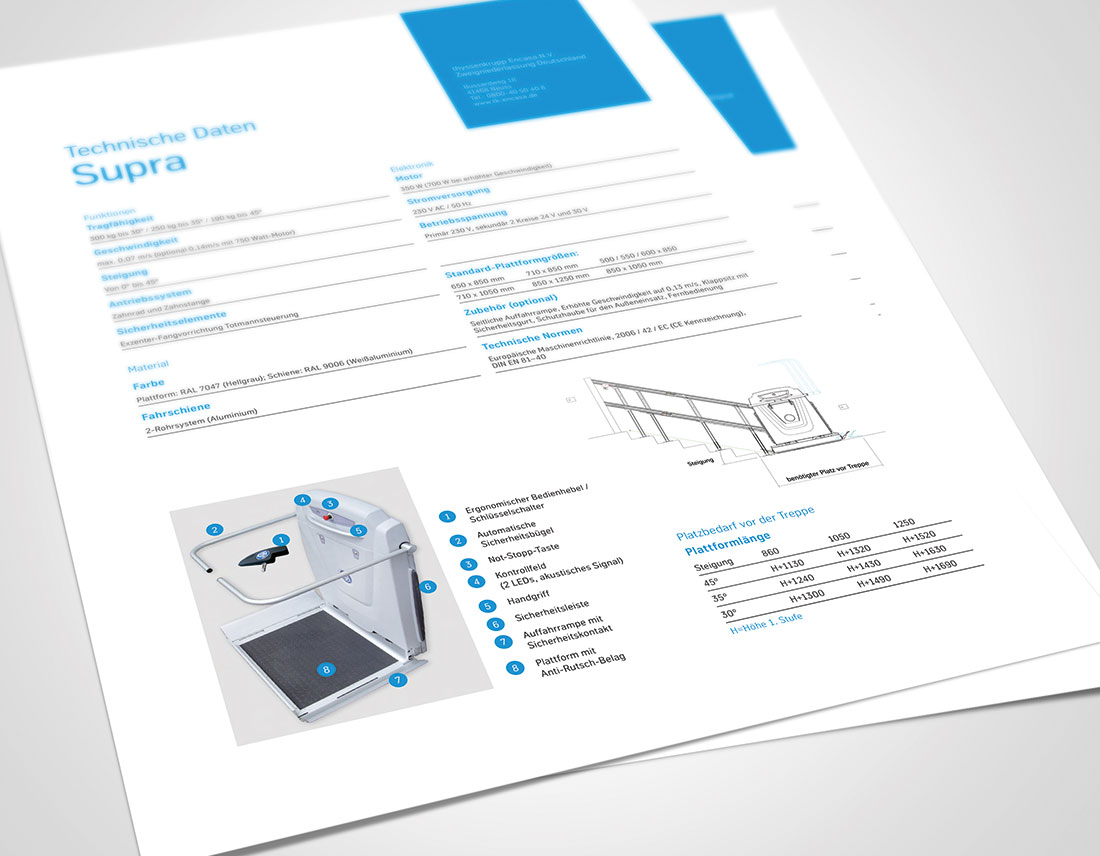 thyssenkrupp Supra Datenblatt